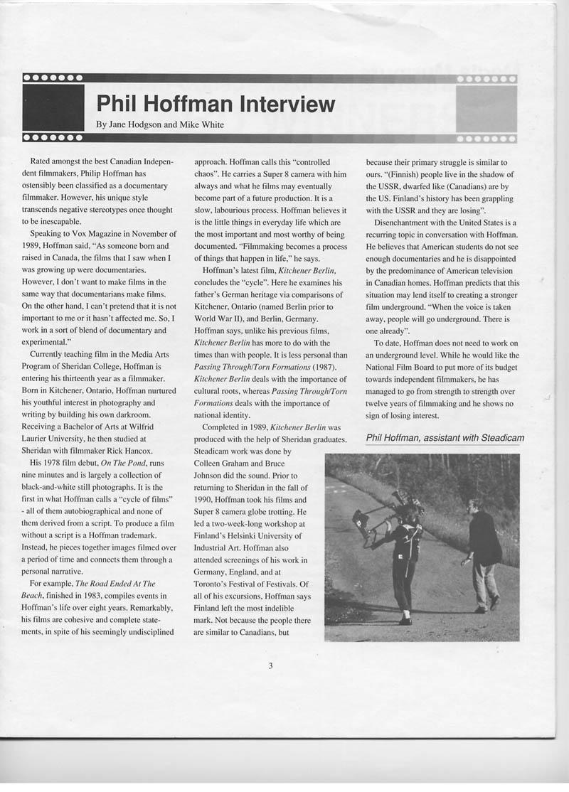 hoffman interview-hodgson+spring 1991